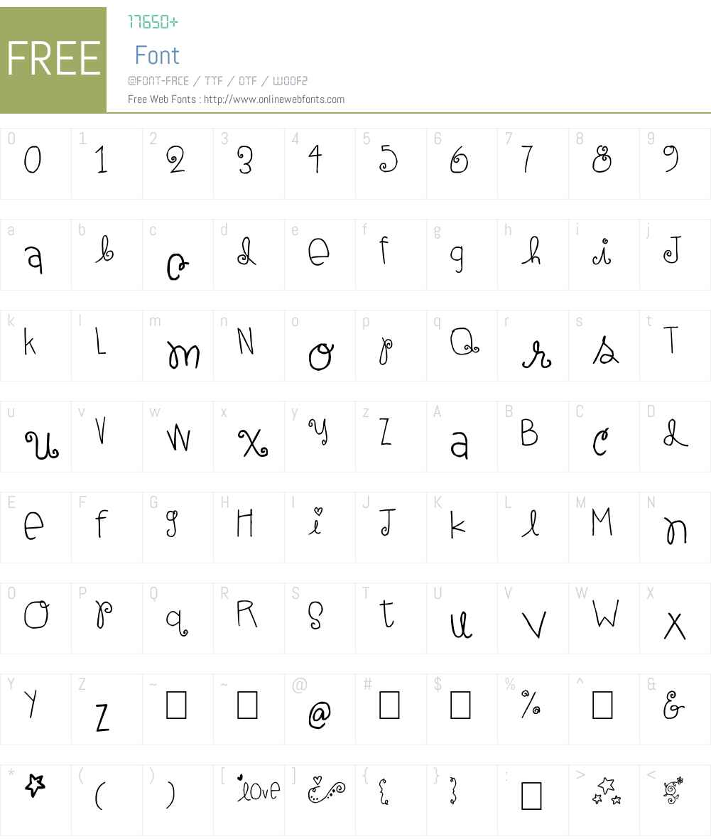 elle ami Font Screenshots