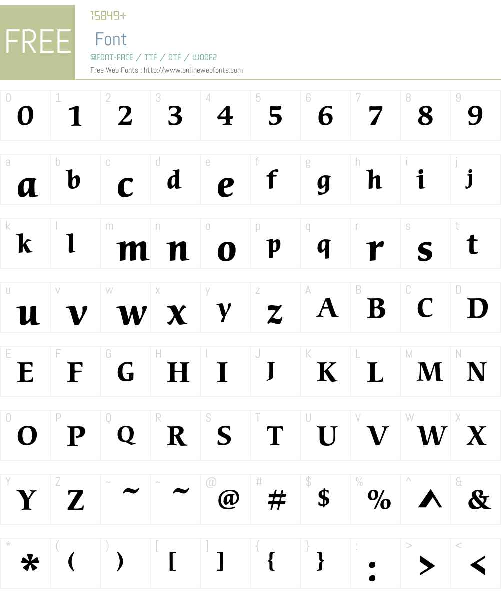 ITC Cerigo Std Font Screenshots