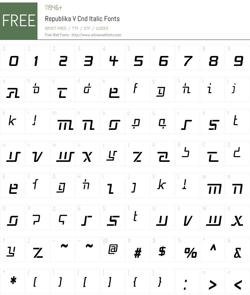 Republika V Cnd Font Screenshots