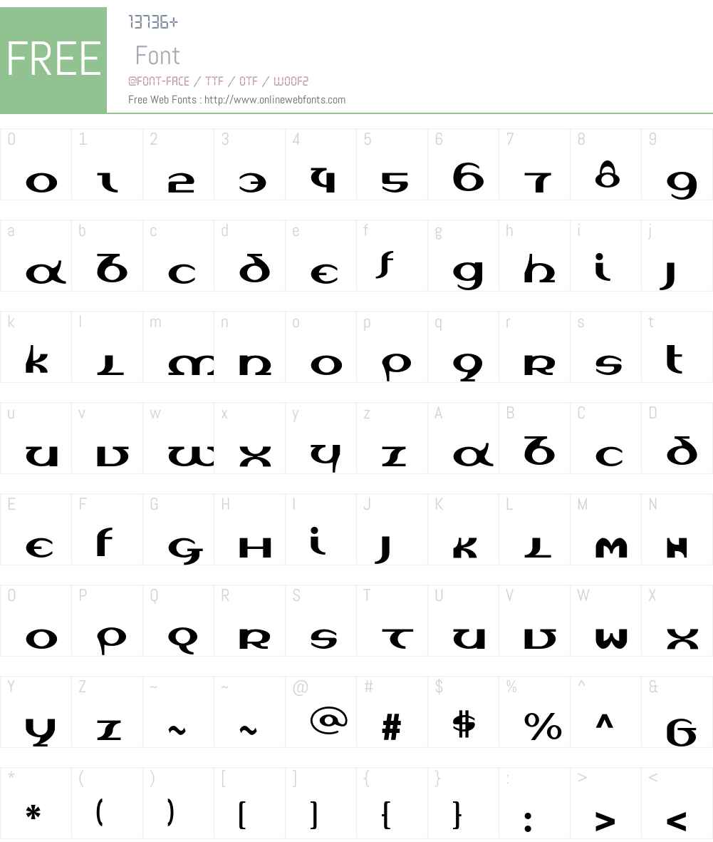 Unica Font Screenshots
