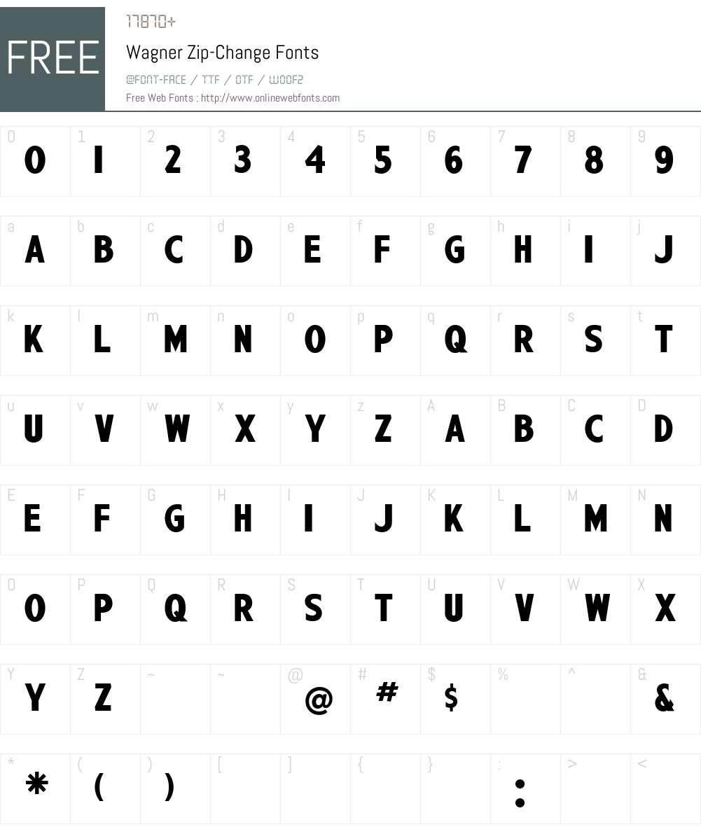 Wagner Zip-Change Font Screenshots