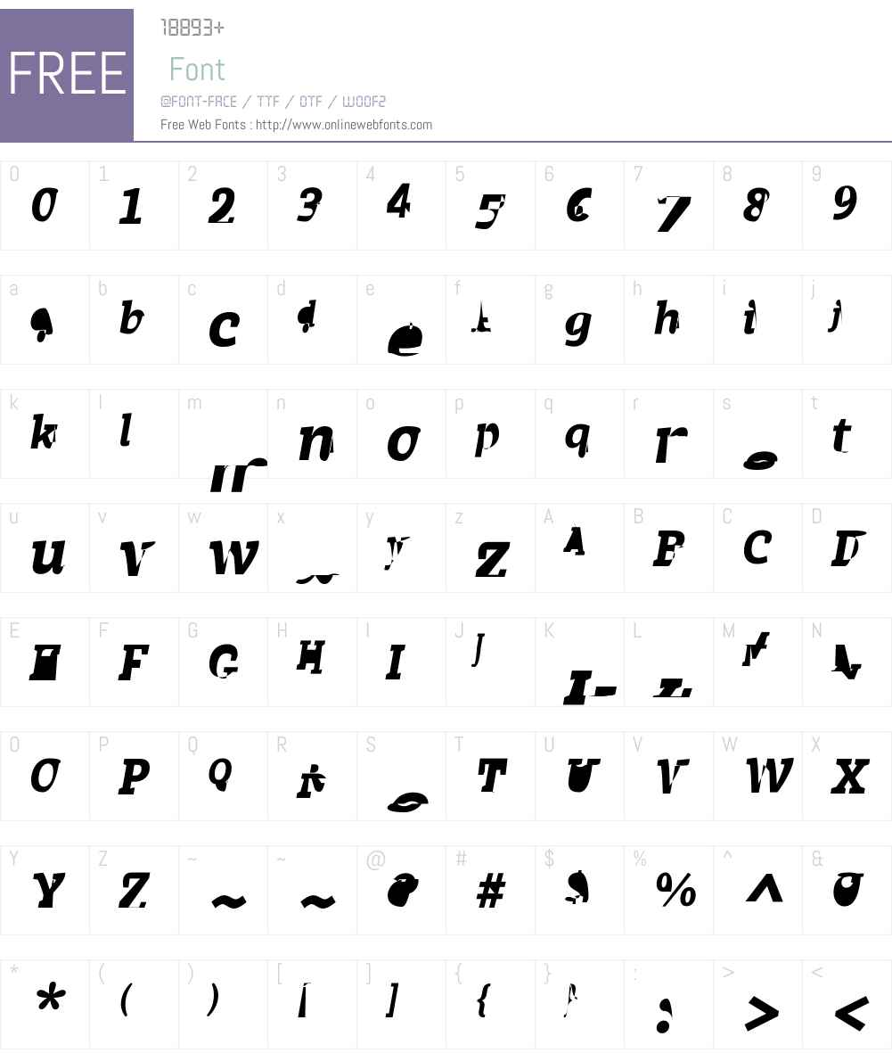 Achille II FY Font Screenshots