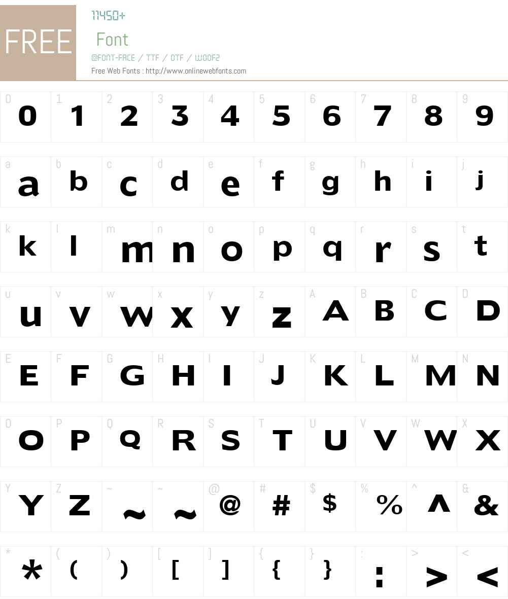 Extens SSi Font Screenshots