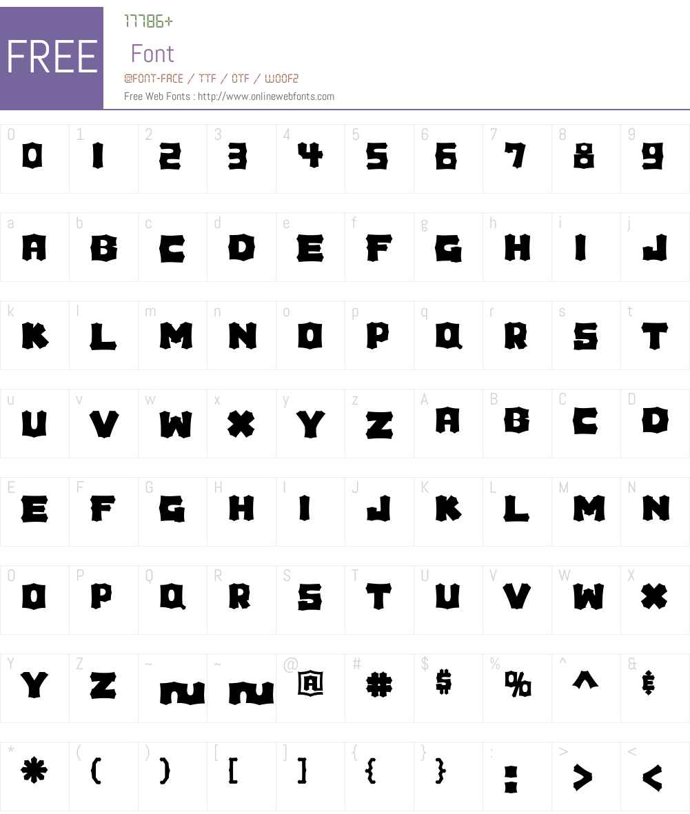 Houdini Font Screenshots
