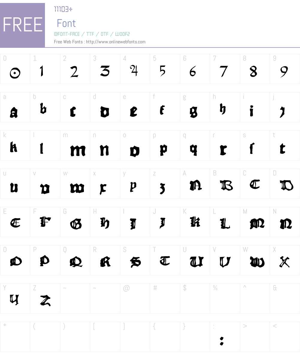 RhymeChronicle1494 Font Screenshots