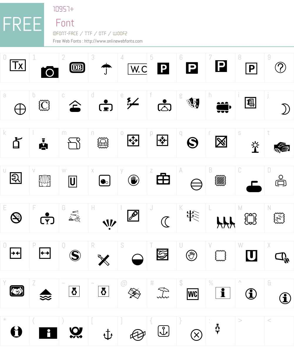 Communications Font Screenshots