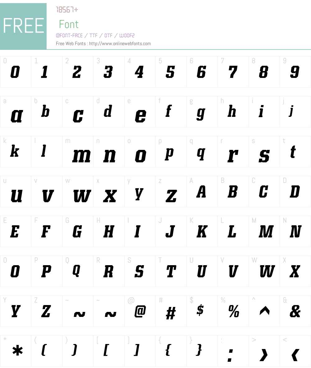 KairosW01-CondensedBoldIt Font Screenshots