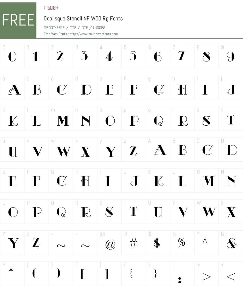 OdalisqueStencilNFW00-Rg Font Screenshots