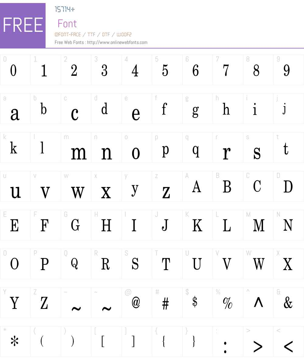 NewCenturySchlbk-Roman Cn Font Screenshots