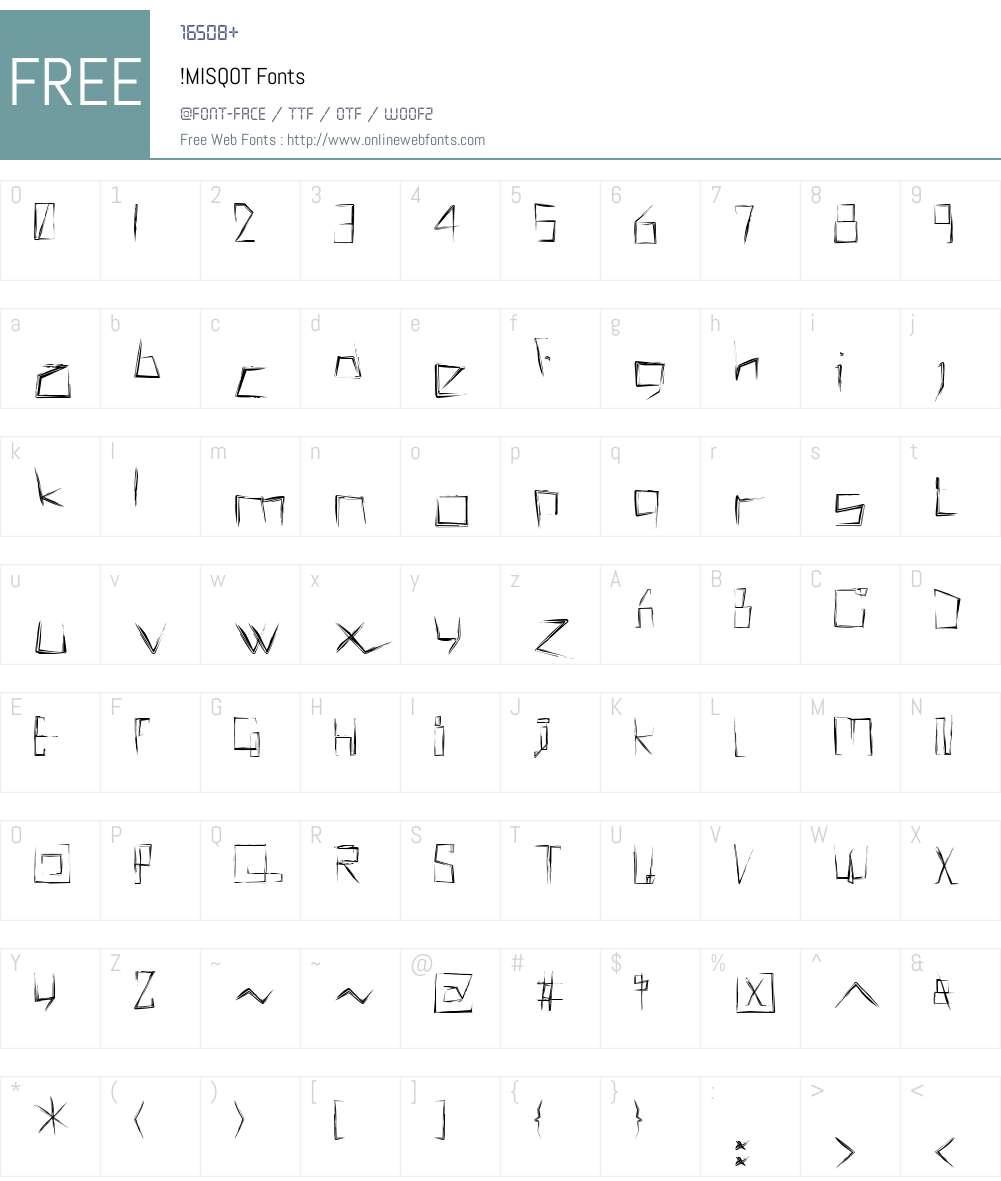 !MISQOT Font Screenshots