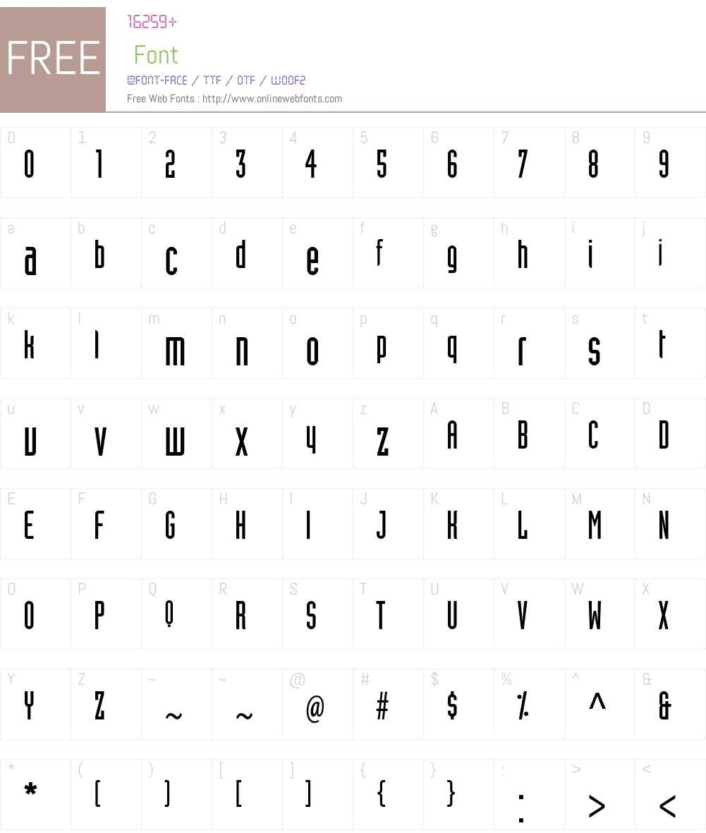 Industria LT Std Font Screenshots