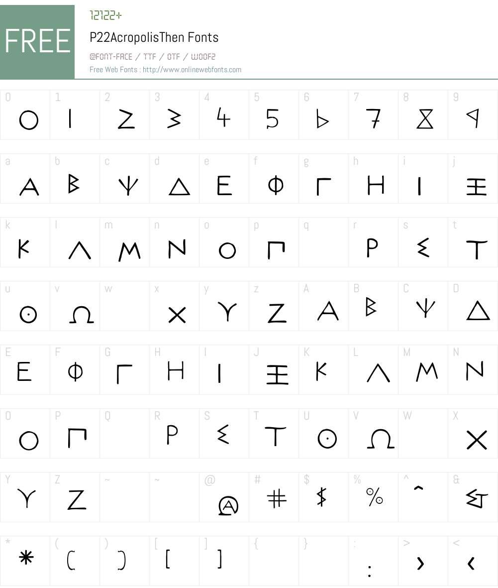 P22AcropolisThen Font Screenshots