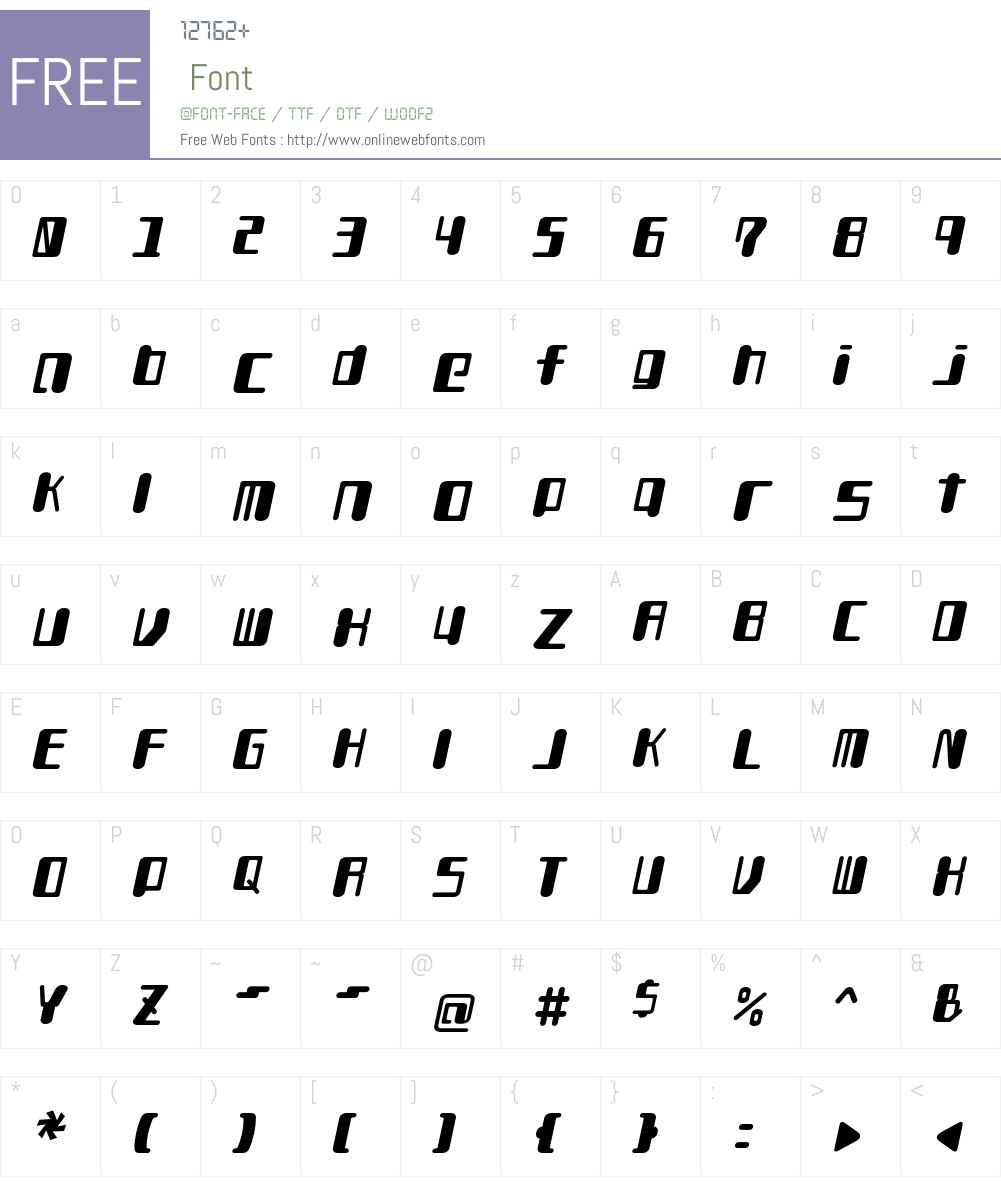 TYPEOUT2097ALP Font Screenshots