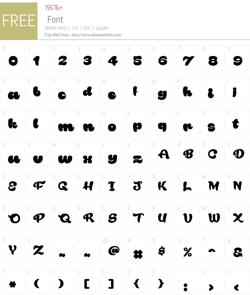 Rakoon Font Screenshots