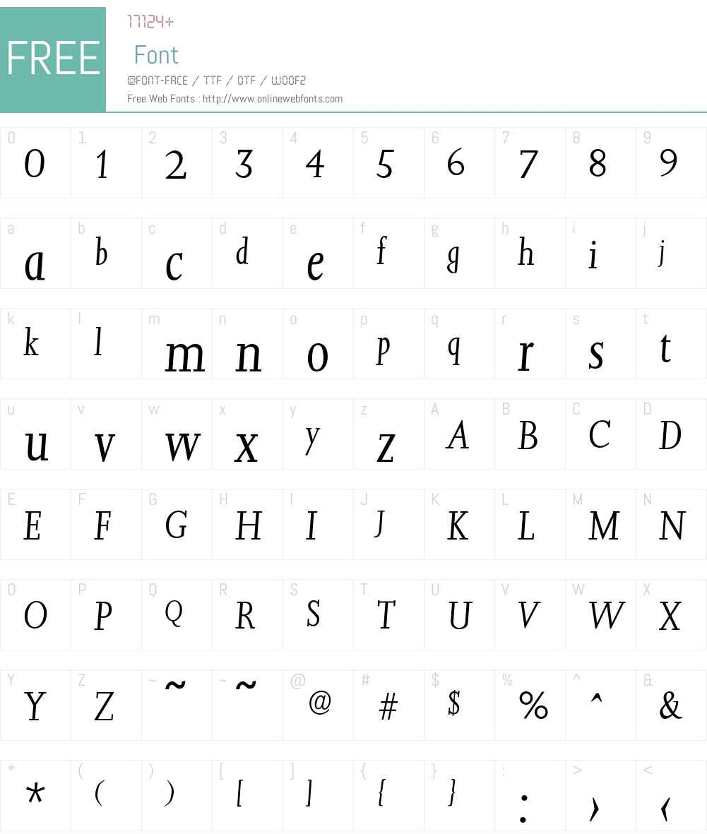 Jessica-LightIta Font Screenshots