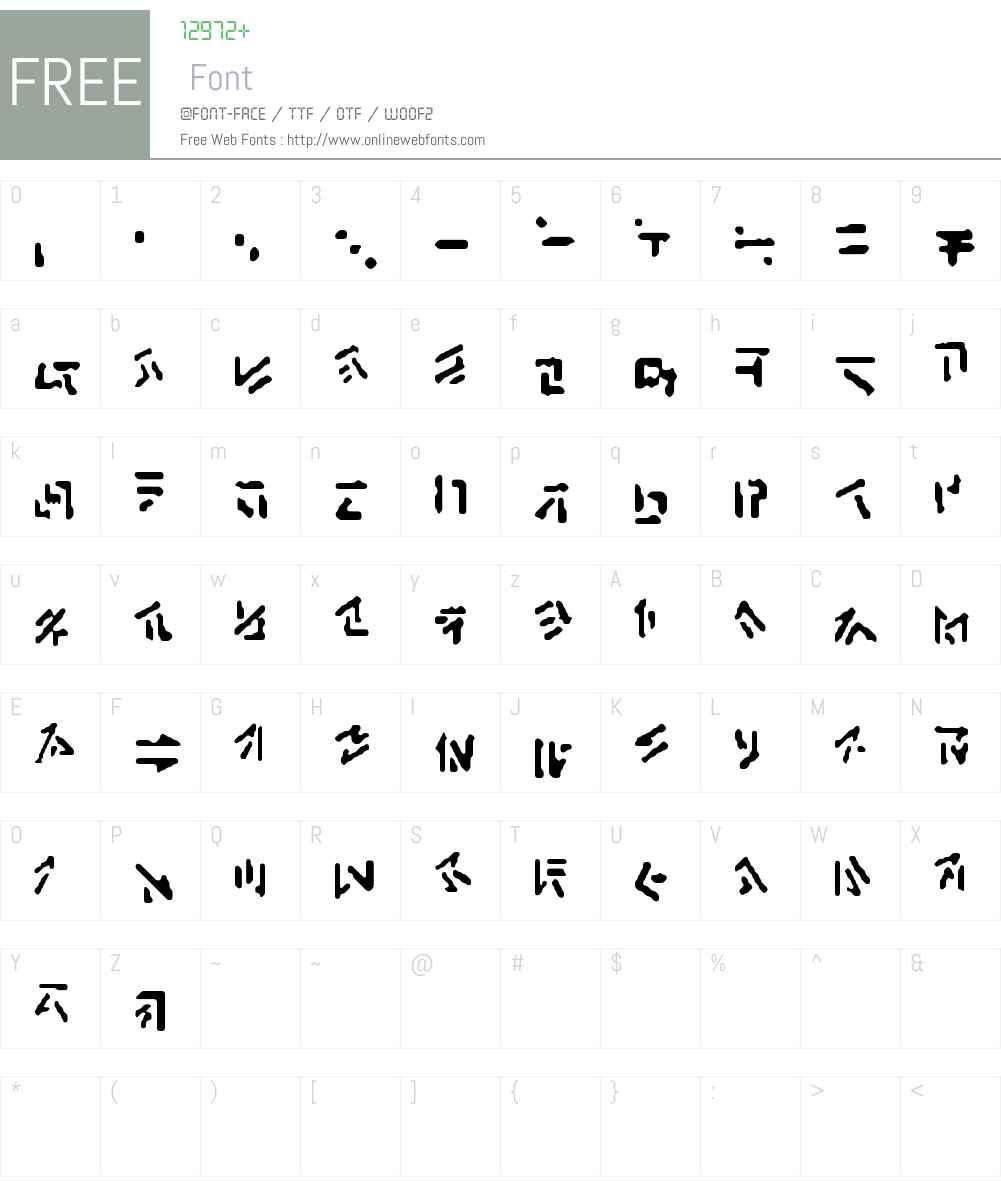 Anchrish Runes Font Screenshots