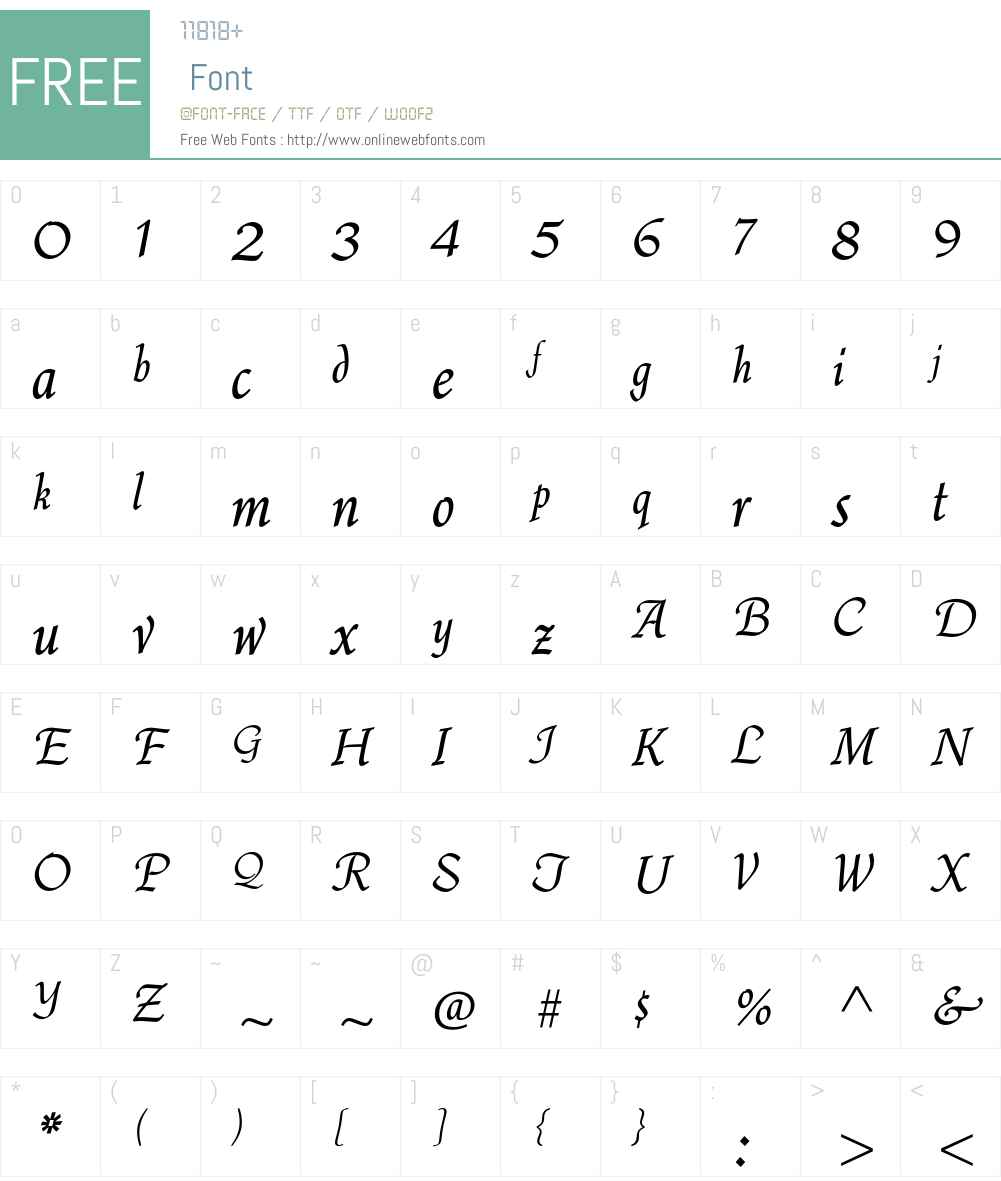 Quill Std Font Screenshots