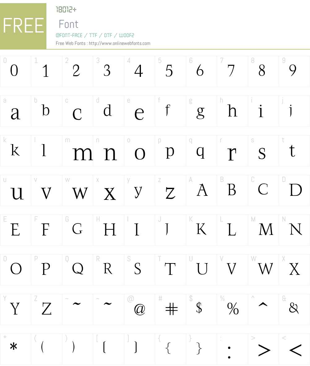 FrancoisLight Font Screenshots
