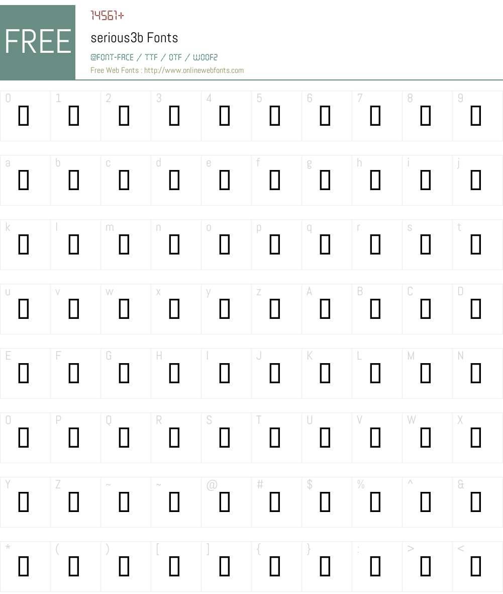 serious3b Font Screenshots