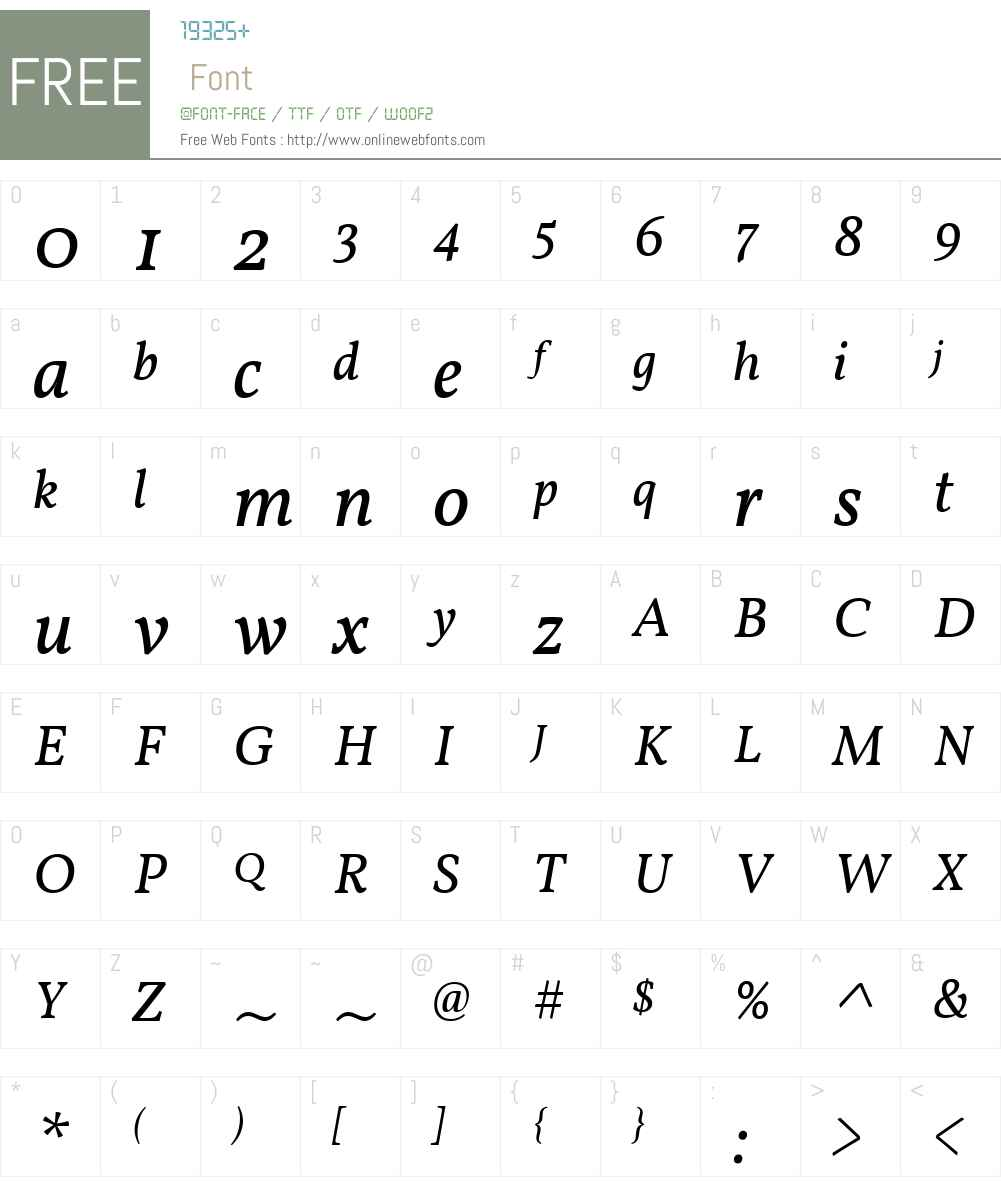 Vollkorn Font Screenshots