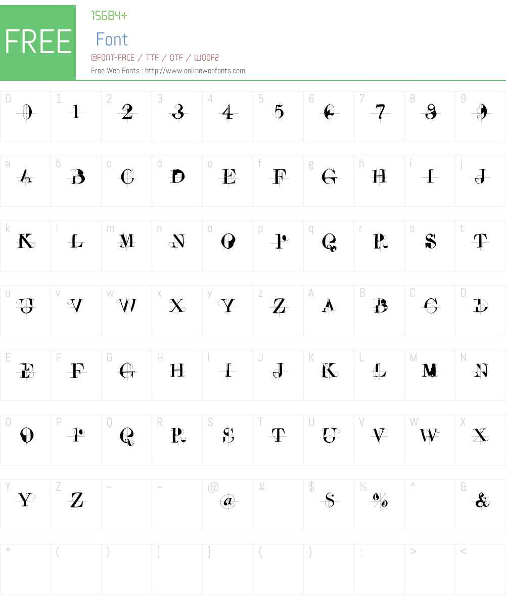 DrunkenConstructor Font Screenshots