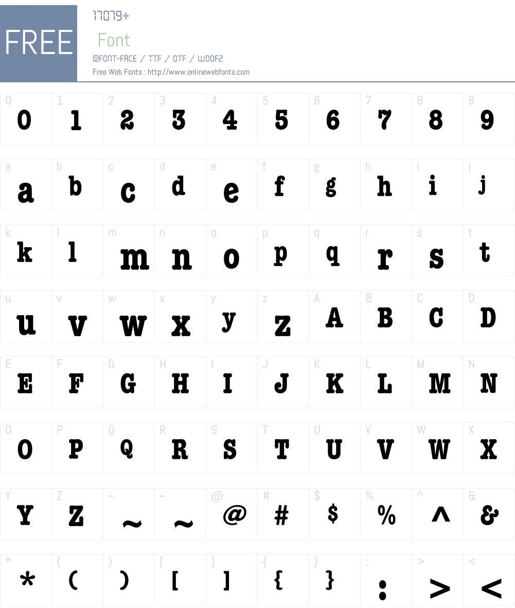 ITC American Typewriter LT Font Screenshots