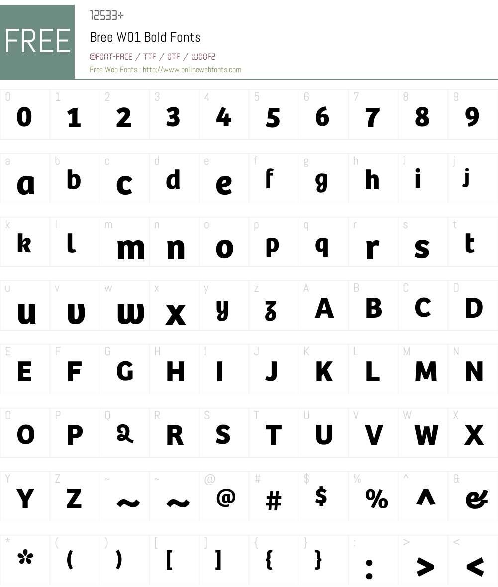 BreeW01-Bold Font Screenshots