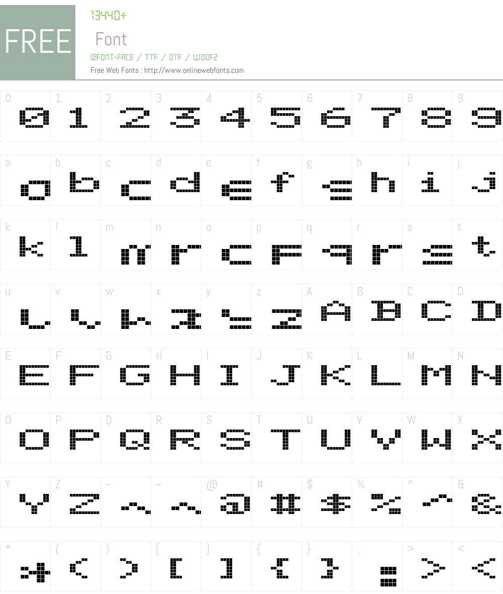 ScreenMatrix Font Screenshots