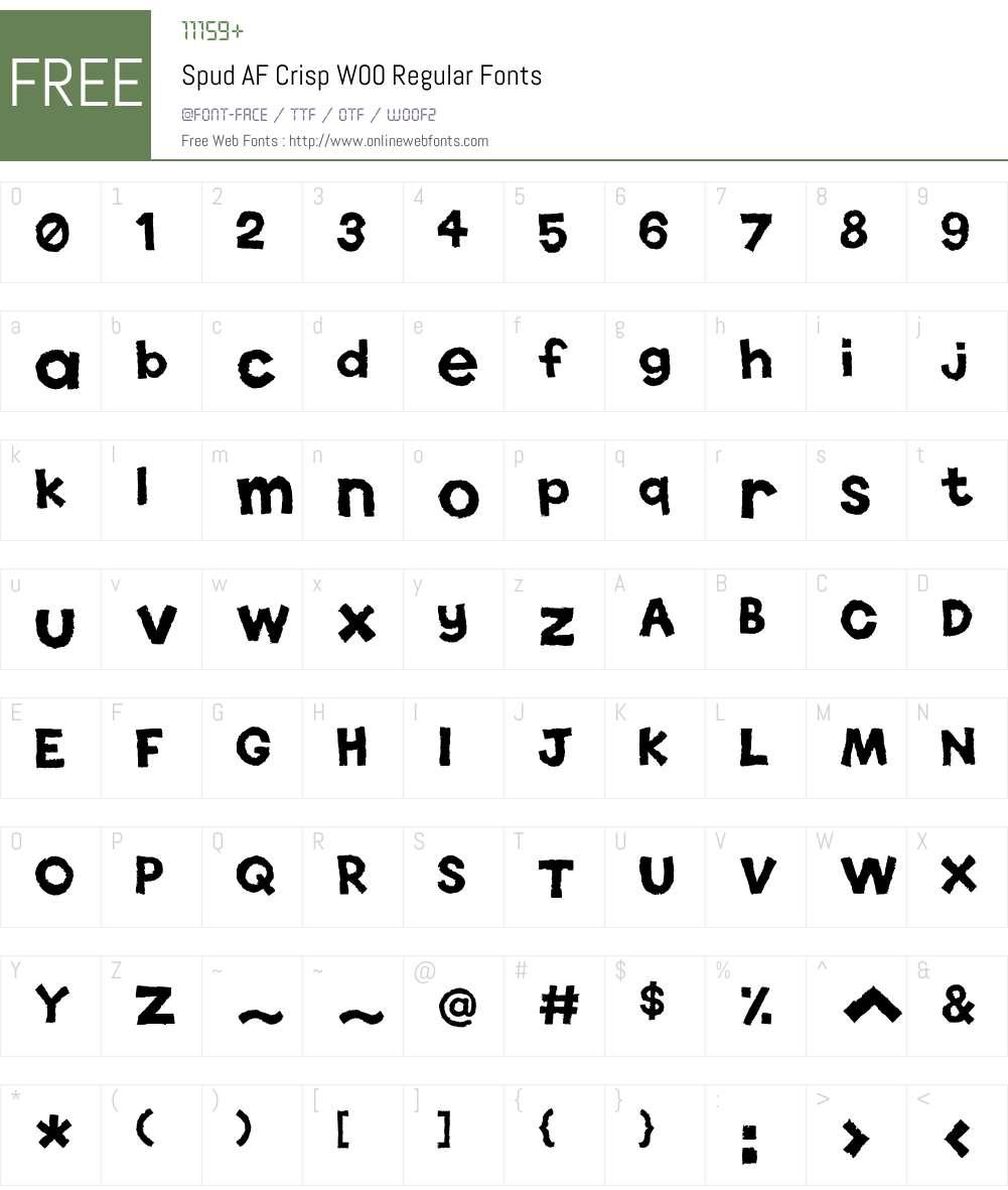 SpudAFCrispW00-Regular Font Screenshots