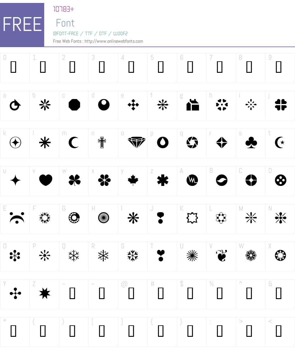 wmshapes1 Font Screenshots