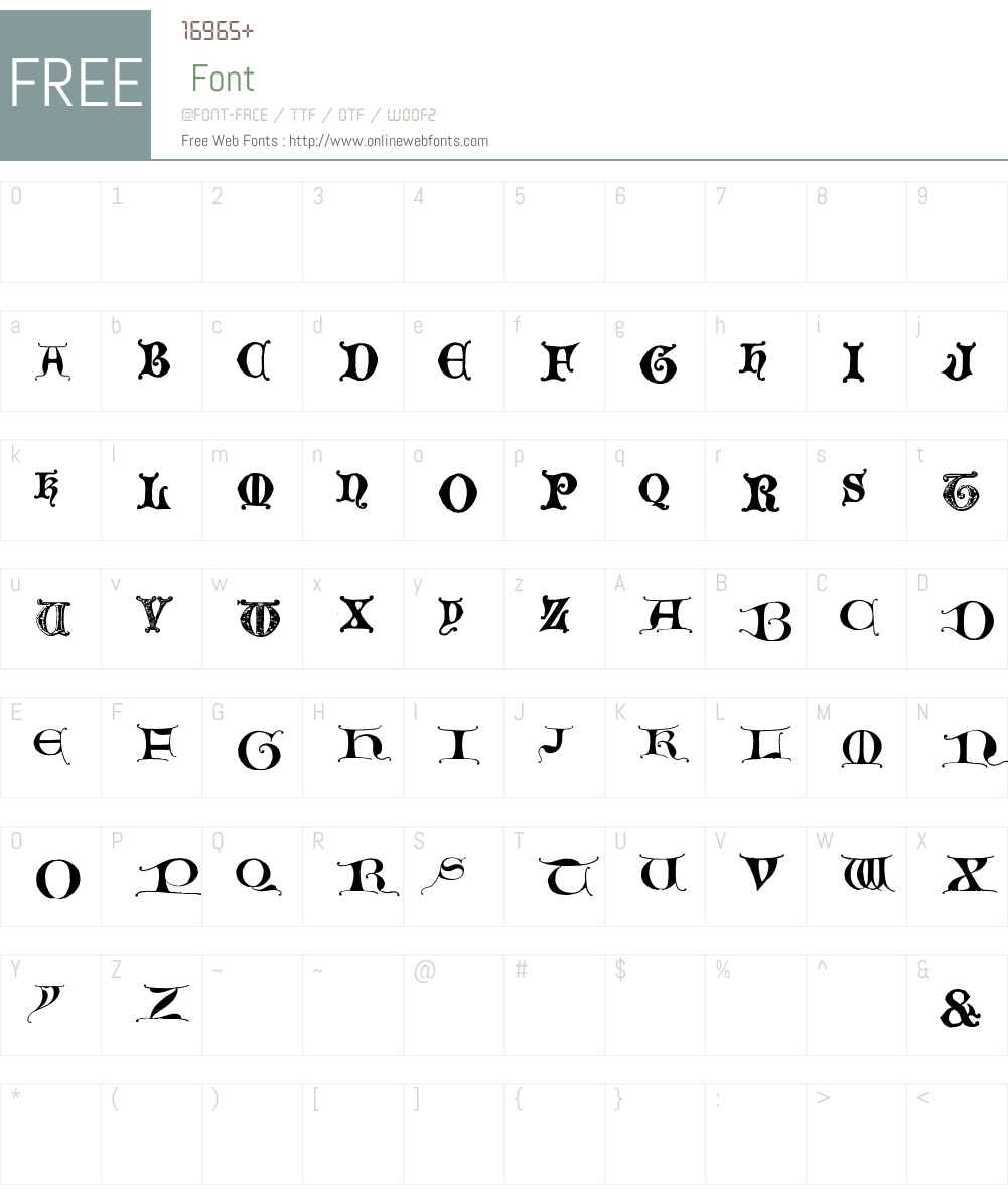 EasyLombardic Font Screenshots