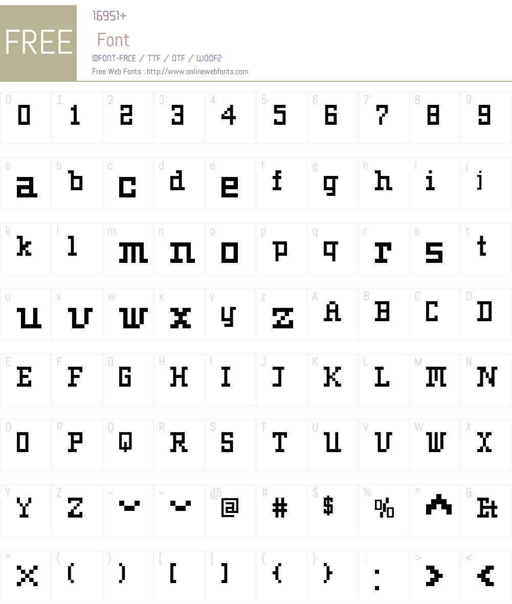 FR73PixelW00-Regular Font Screenshots