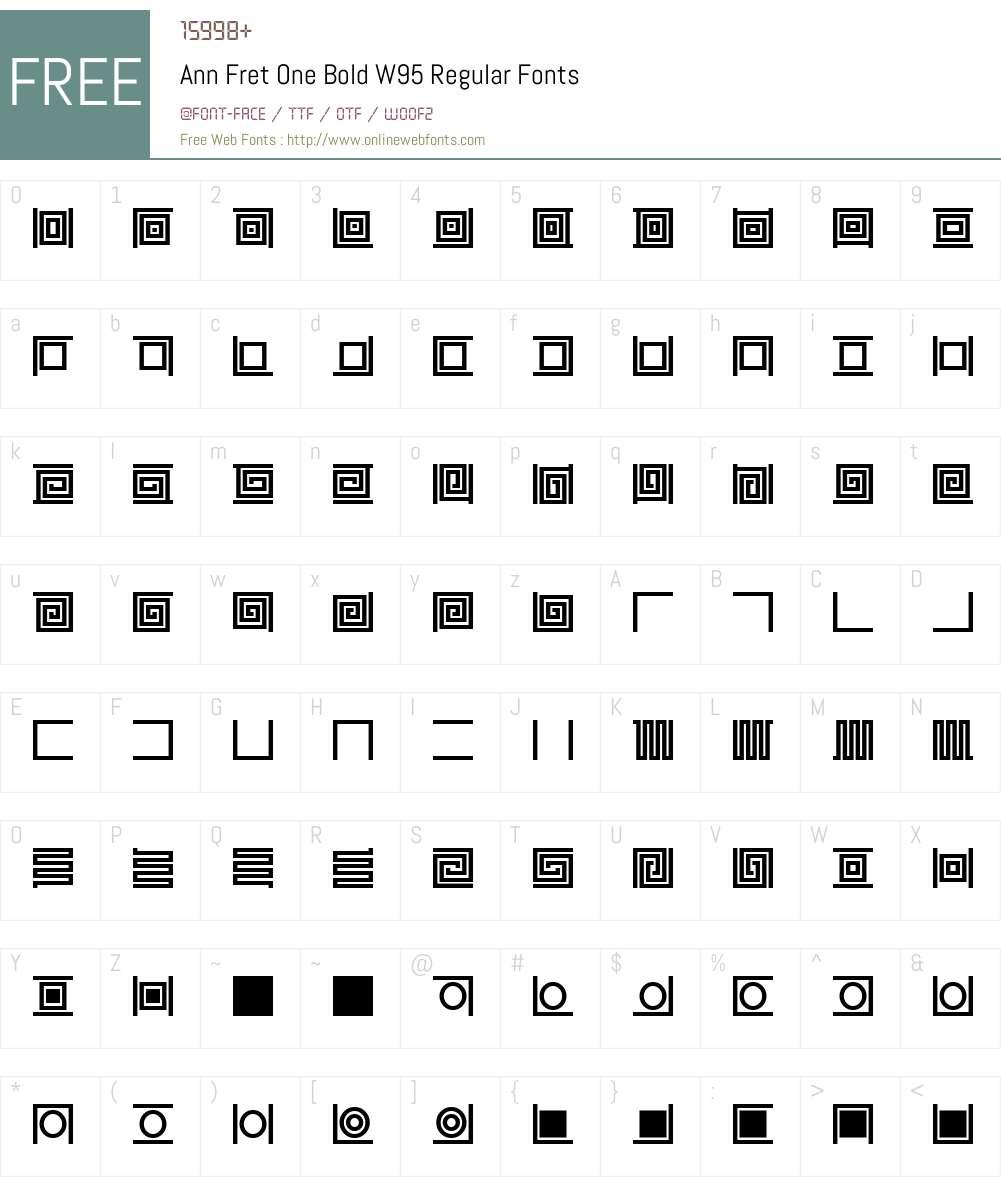 Ann Fret One Bold Font Screenshots