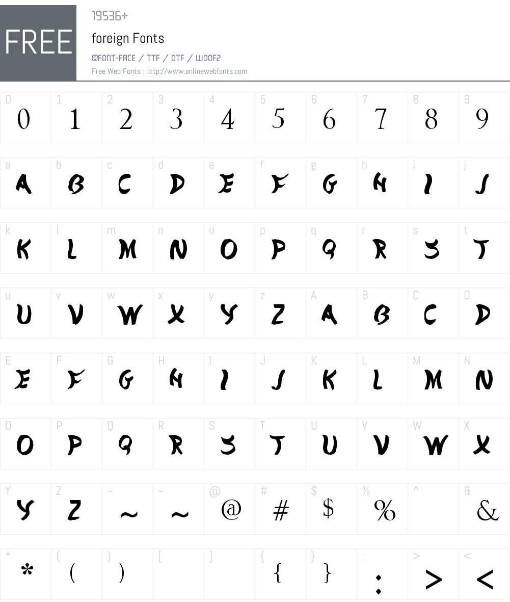 foreign Font Screenshots