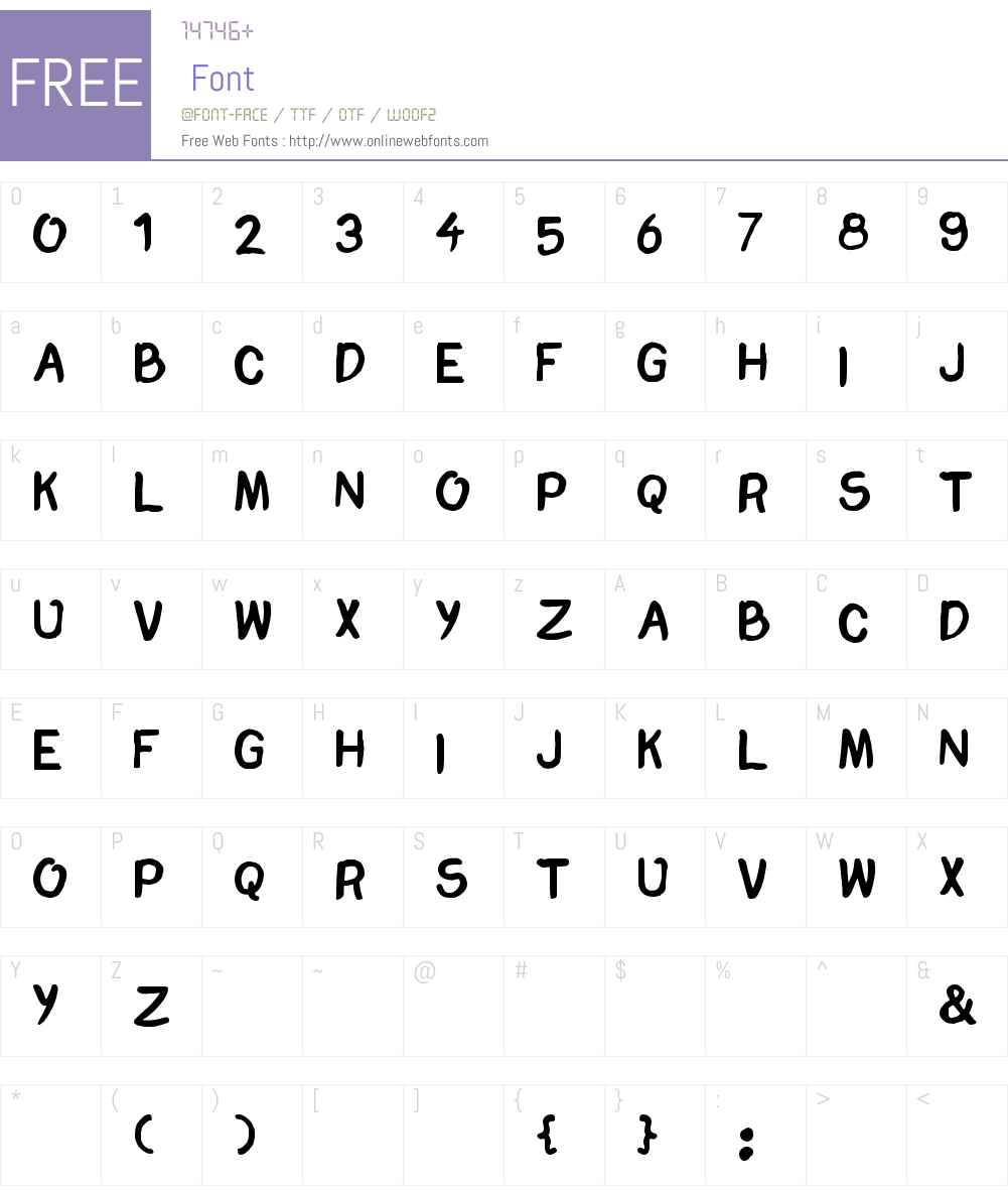 Chomp Font Screenshots
