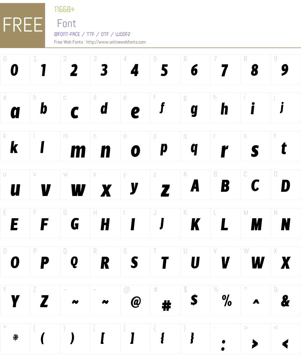 VelinoSansW01-CdBlackItalic Font Screenshots