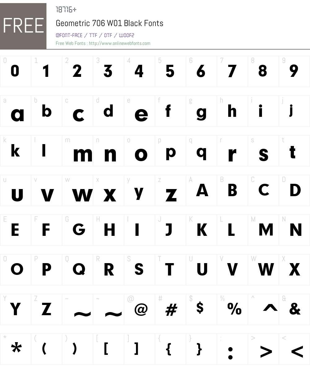 Geometric706W01-Black Font Screenshots