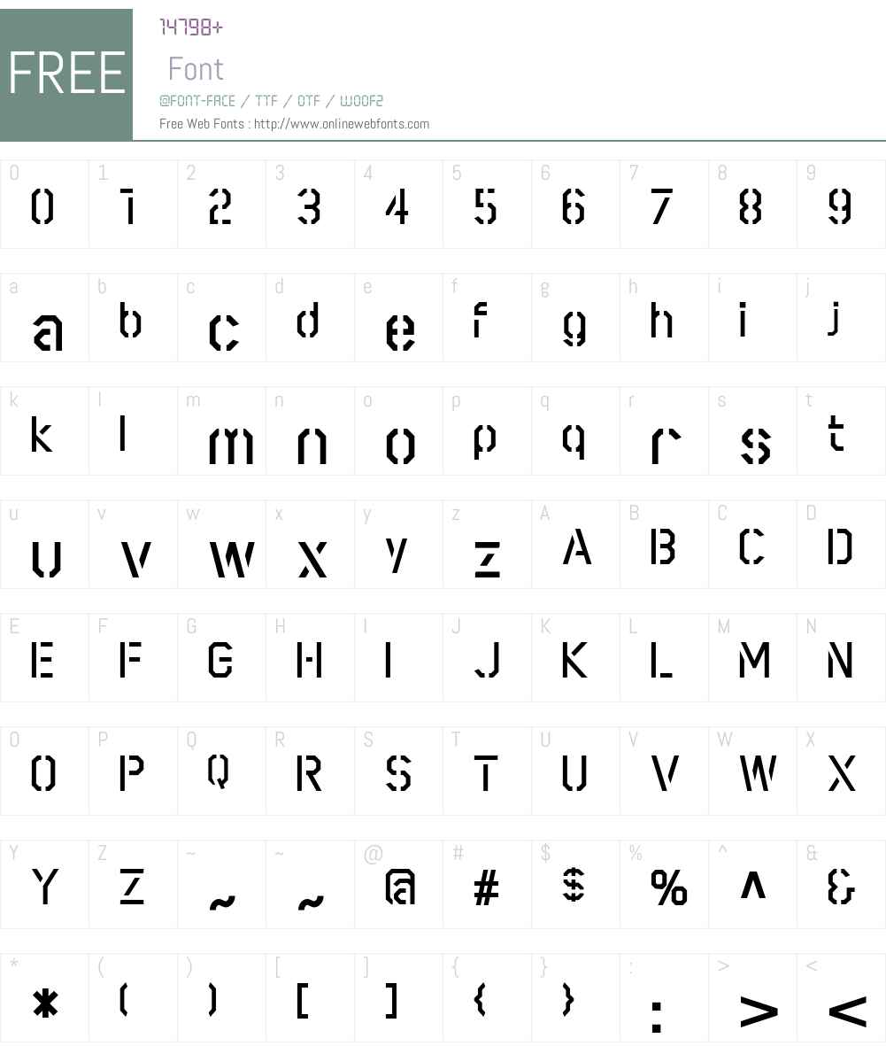 Scriber Font Screenshots