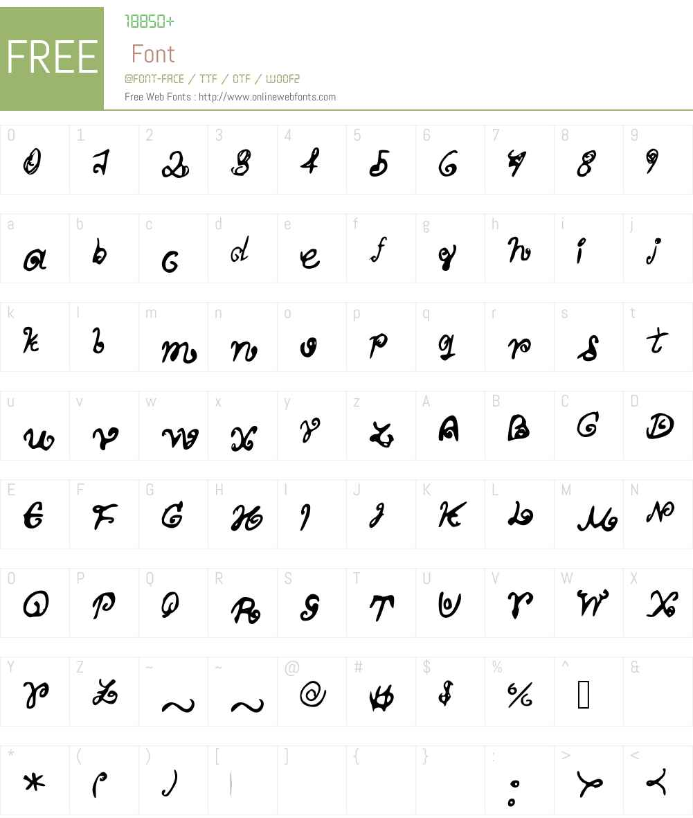 MyScriptFont Font Screenshots