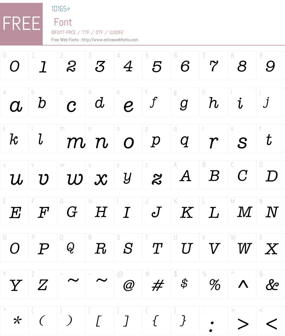 AmTypEFMedIta Font Screenshots