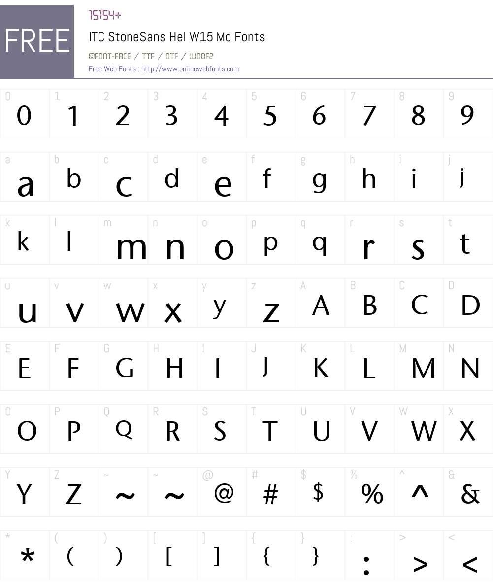 ITCStoneSansHelW15-Md Font Screenshots
