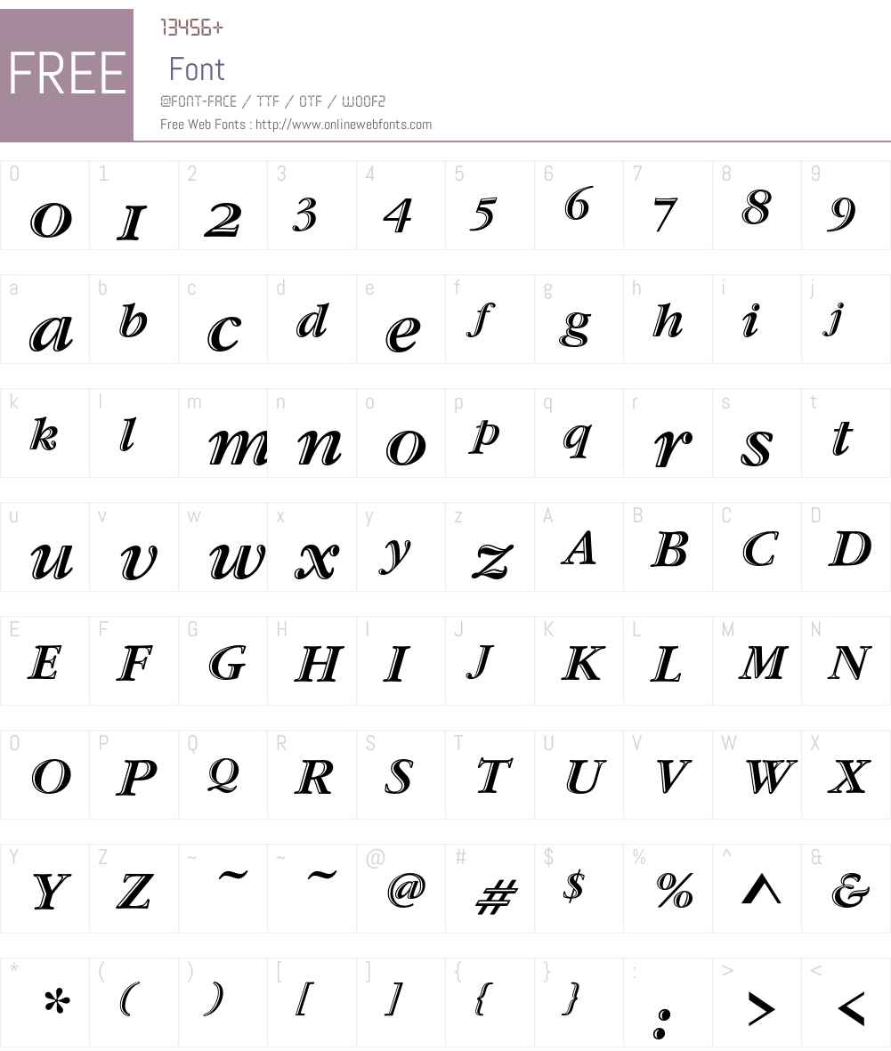 Garamond Handtooled ITC Font Screenshots