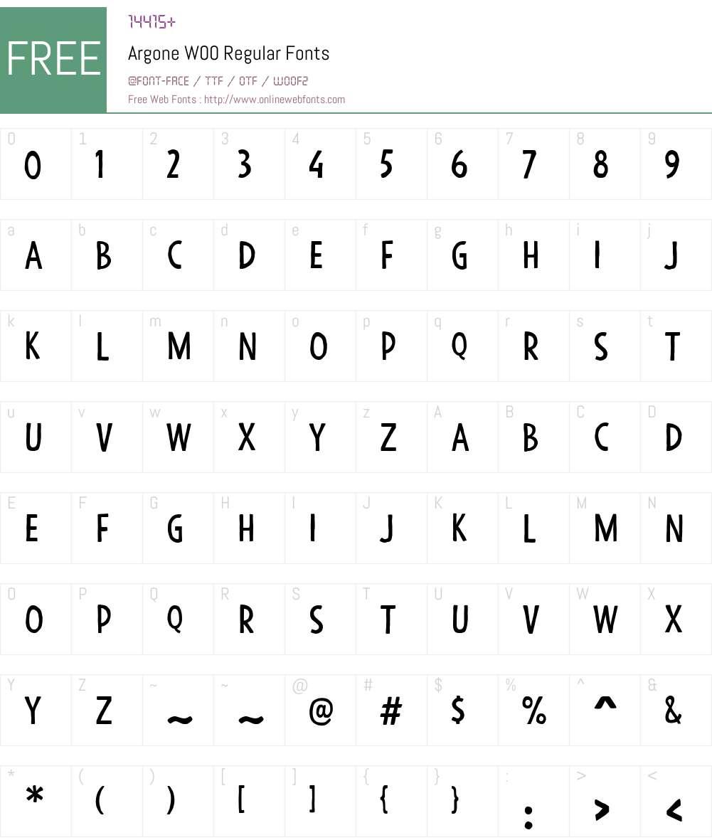 ArgoneW00-Regular Font Screenshots