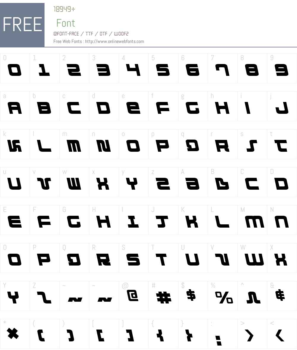 Direktor Leftalic Font Screenshots