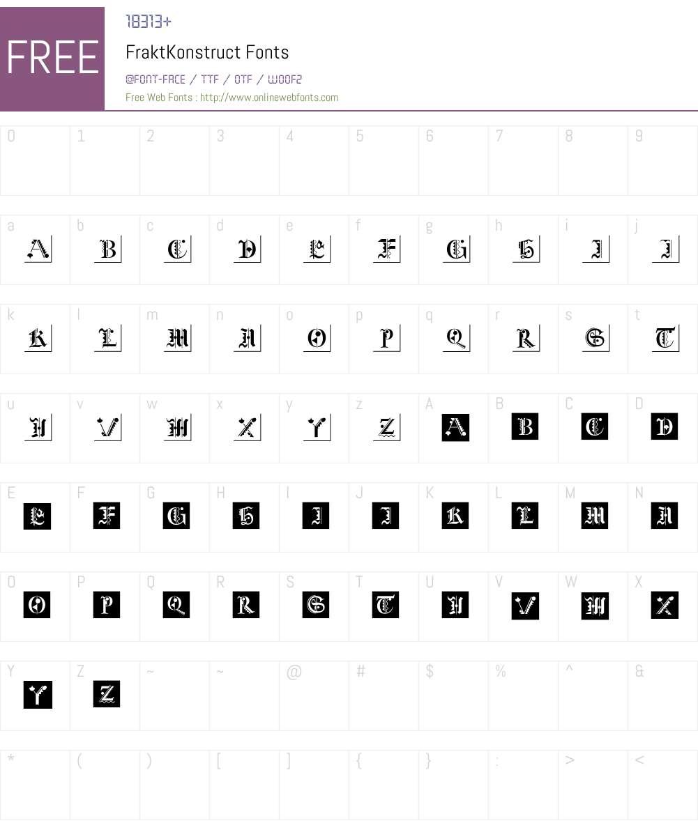 FraktKonstruct Font Screenshots