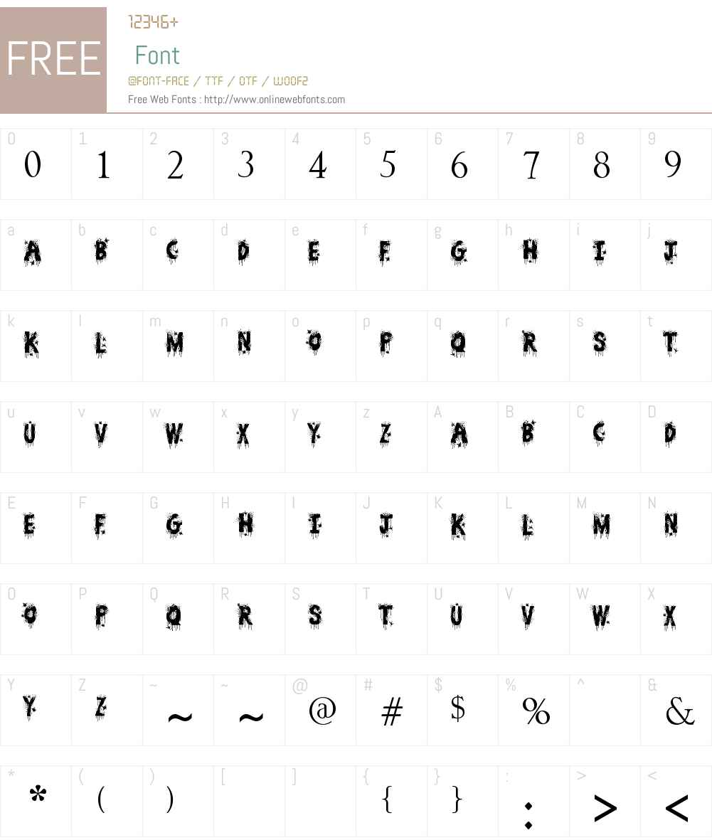 Bullet Holes Font Screenshots
