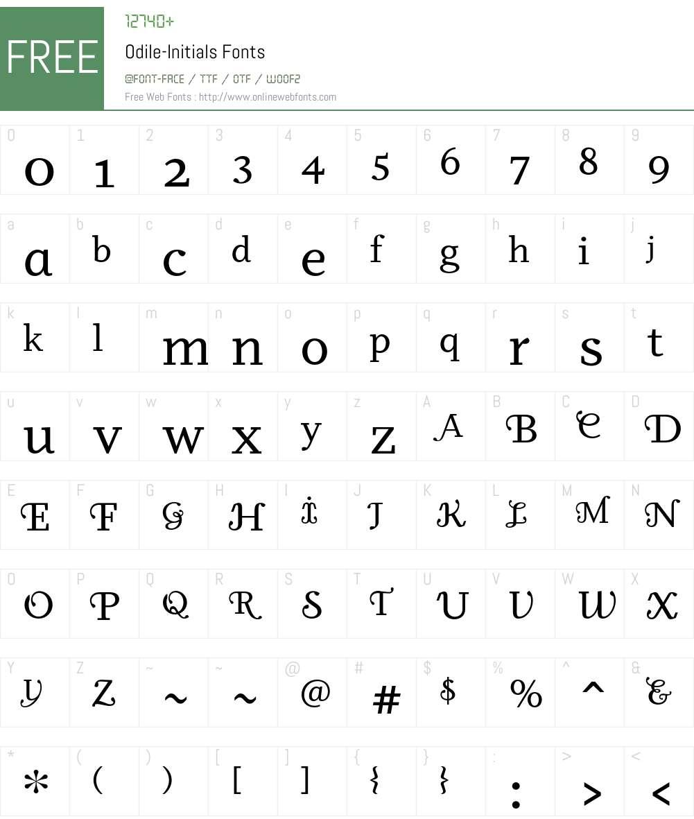 Odile Font Screenshots