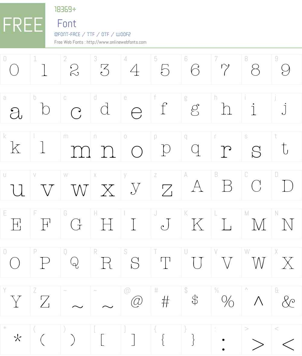KeyboardLightSSi Font Screenshots