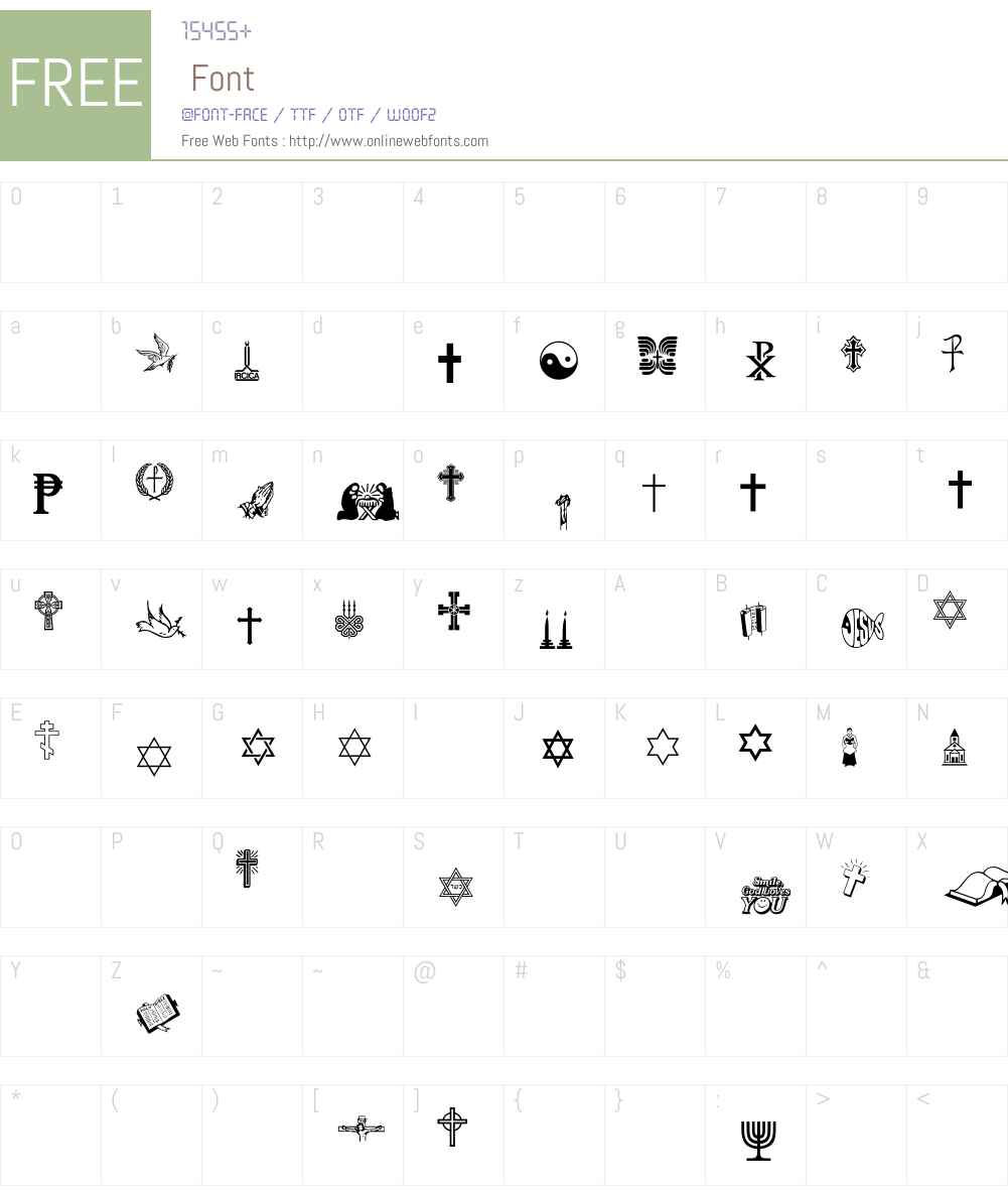 Religious Font Screenshots