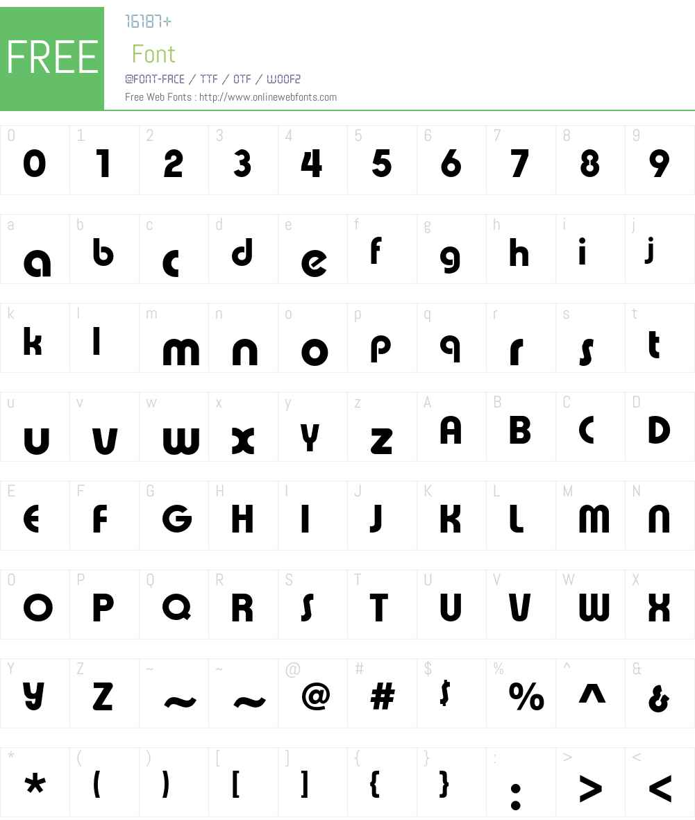ExpressaEF Font Screenshots